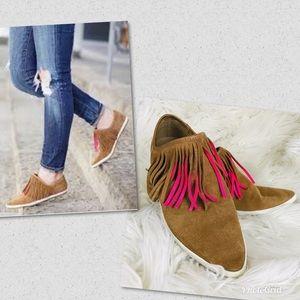 Sanuk Kat Fringe Sidewalk Surfer Shoes
